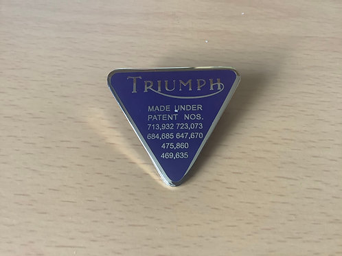 Triumph Blue Logo'd Lapel Badge. LB78B
