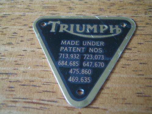 Brass Triumph Patent Plate, 70-4016B