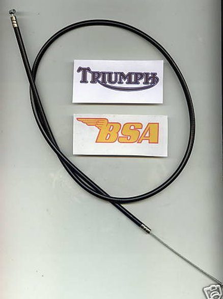 BSA Bantam & Triumph Cub Throttle Cable: 90-8595. 80020