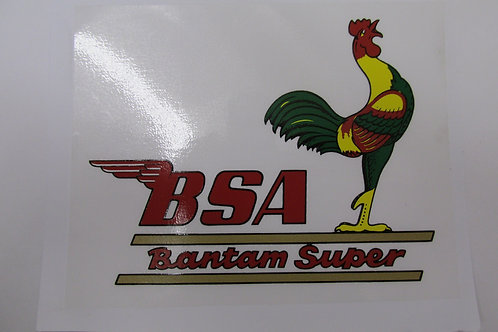 BSA Bantam 'Super' Transfer, K296/5002B