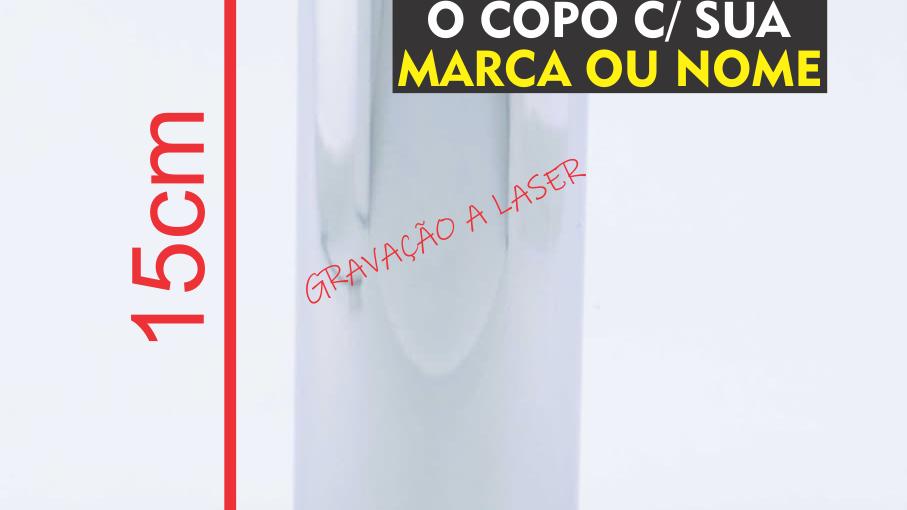 Copo De Aço Inox 304 Para Tereré E Bebidas Geladas C/ 15cm
