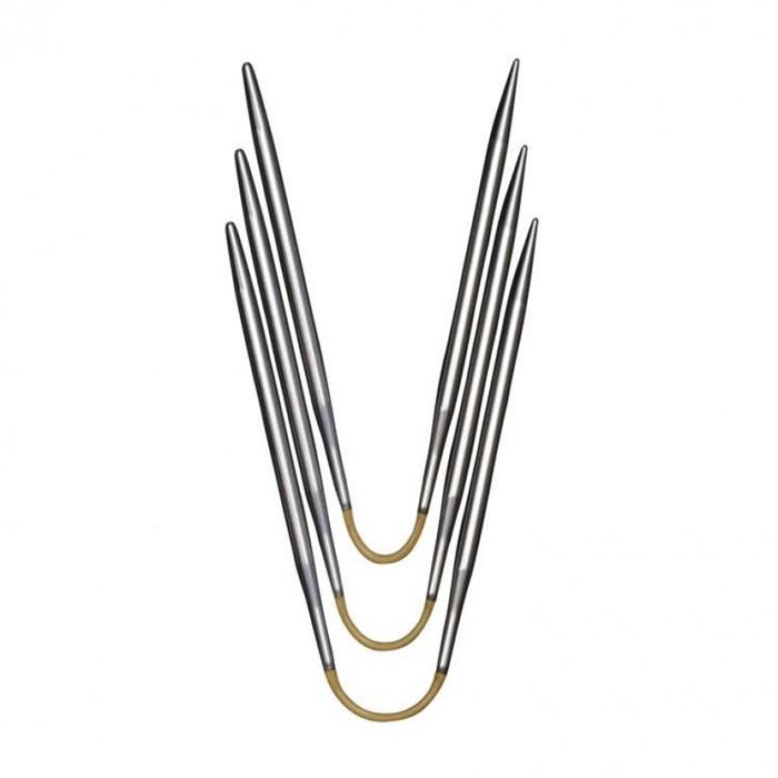 Ensemble de 3 aiguilles avec un câble très court pour tricoter en rond de petites circonférences