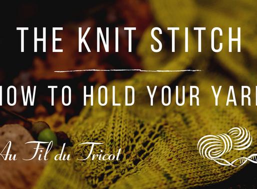 Knit, purl to get Garter Stitch