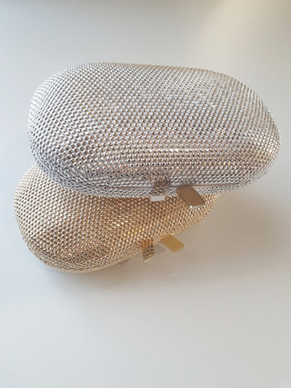 Ace crystal clutch - silver and gold
