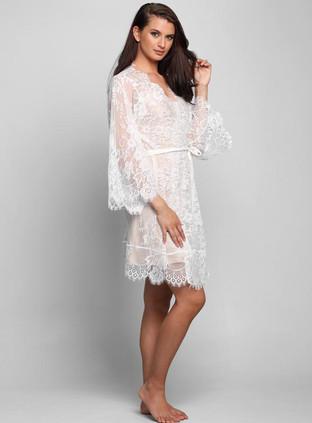 Lyon Short Lace Robe