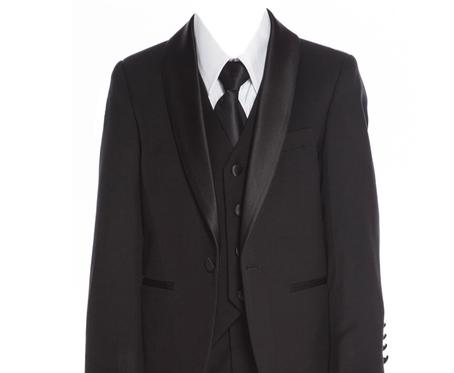 640 Black slim fit suit/tuxedo