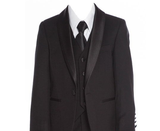 640 Black slim fit suit/tuxedo