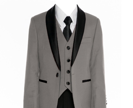 640 Grey slim fit suit/tuxedo