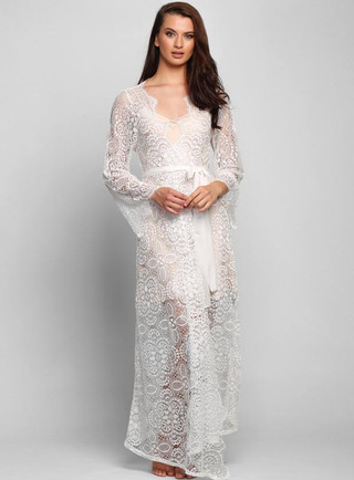 Toulon Long Lace Robe