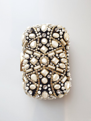 Delilah jewelled clutch