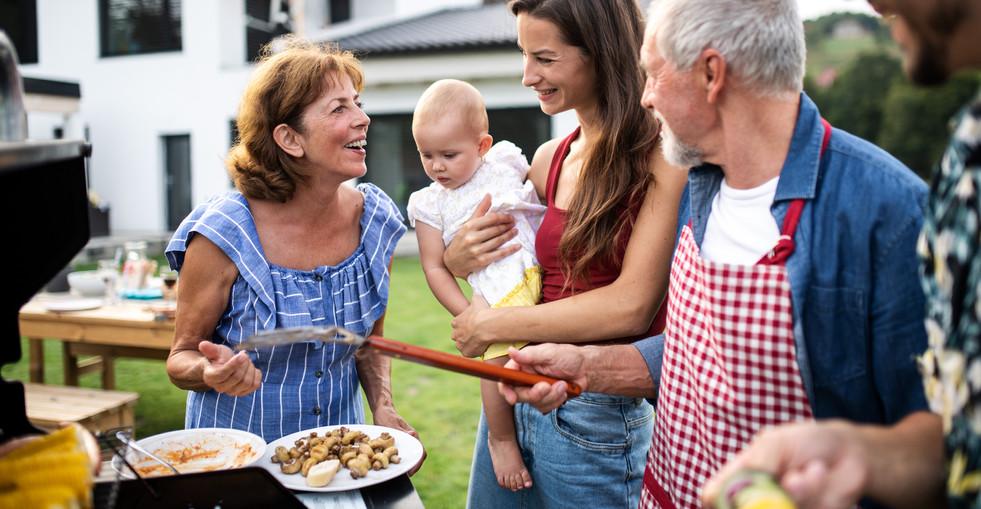 Portrait of multigeneration family outdo