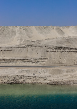 Desierto con agua salada