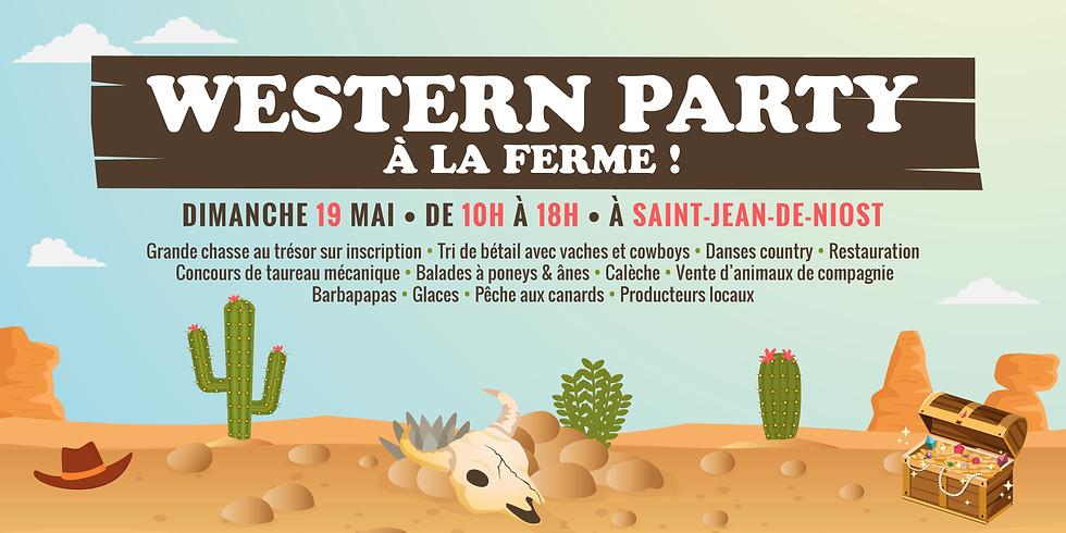 Western Party à la Ferme ! • Inscription à la journée gratuite!