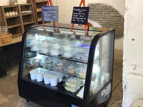 Ouverture du petit magasin de la ferme : produits locaux à gogo !