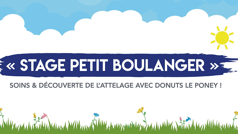 """Stage """"Petits boulangers"""" • 3-12 ans !"""