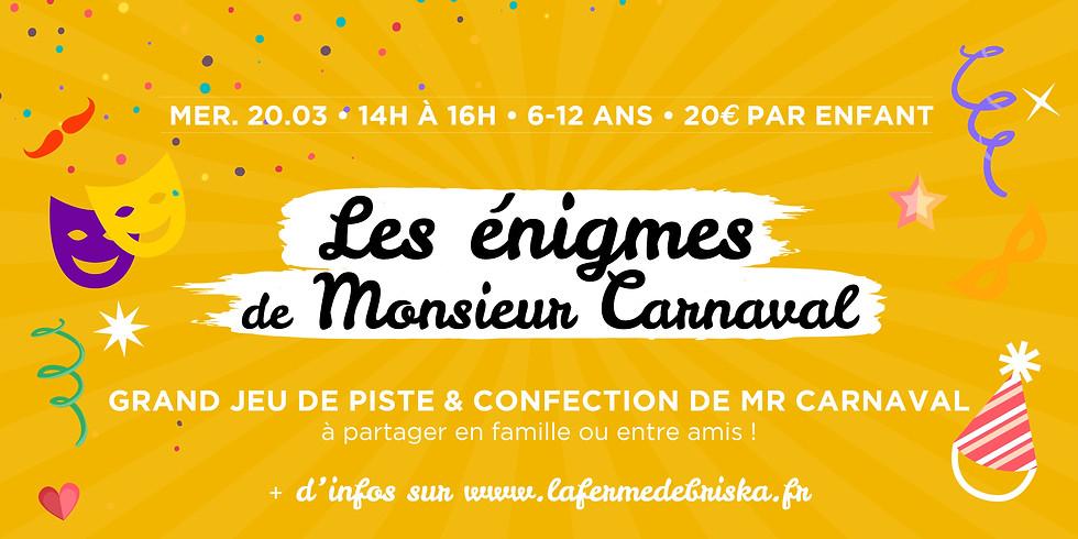 """Grand jeu """"Confection de Mr Carnaval !"""" • à partir de 4 ans !"""
