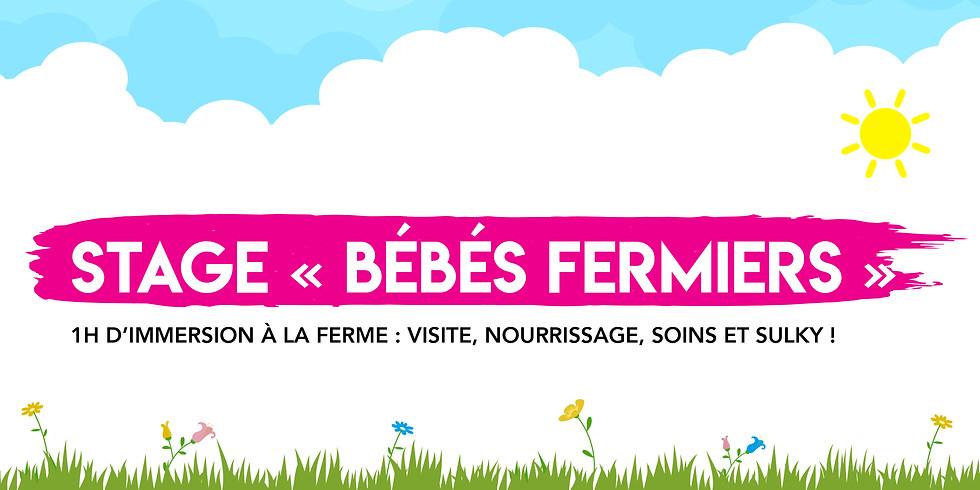 """Stage """"Bébés Fermiers"""" • 0-3 ans !  """"Sous réserve du temps"""""""