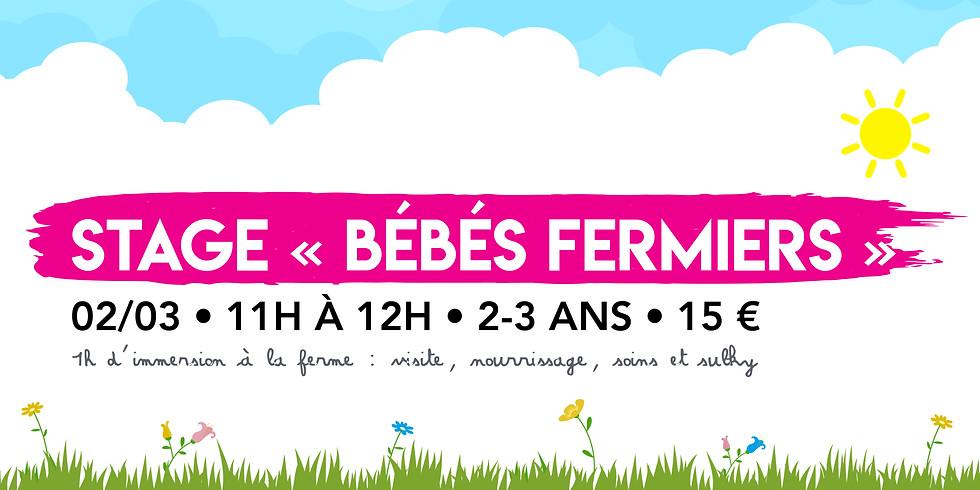 """Stage """"Bébés Fermiers"""" • 2-3 ans !"""