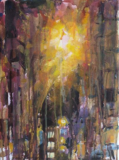 Light in alley, 30x40cm, 2016
