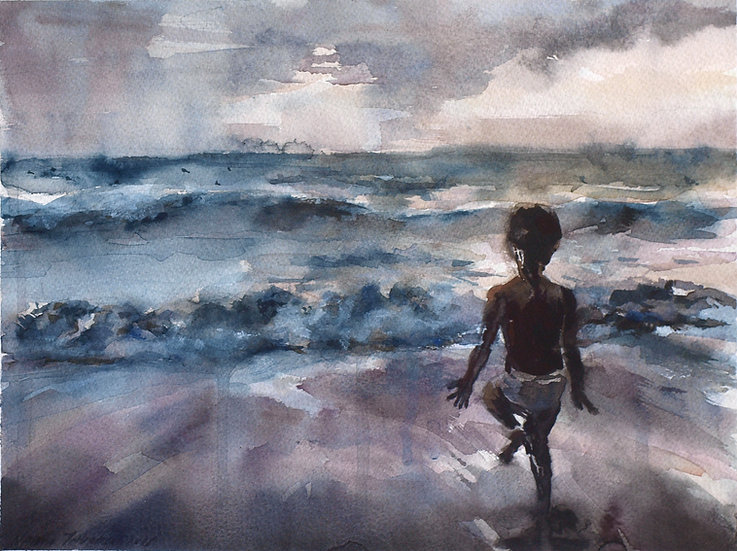 Wave, come again, 24x32cm, 2015