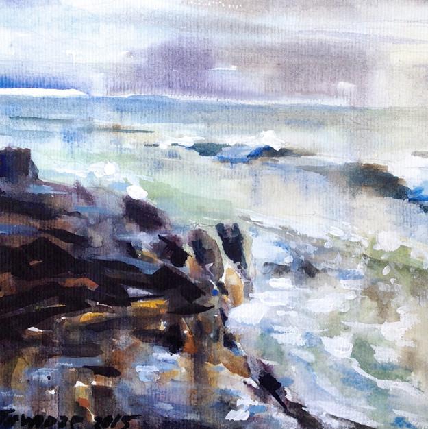 Ocean in January.