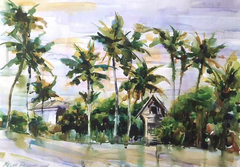 Palm trees, 57x40 cm, 2014