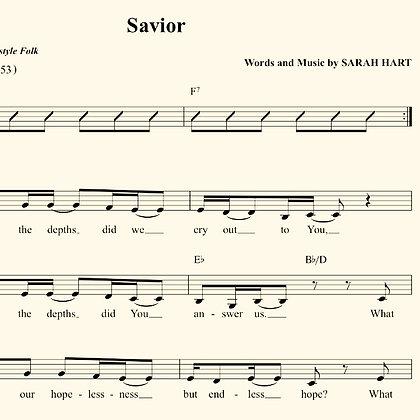 Savior - Sheet Music (Advent/Christmas)