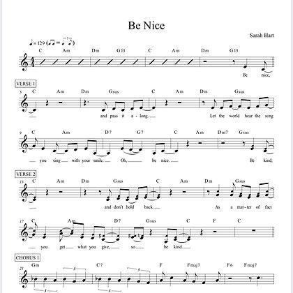 Be Nice - Sheet Music