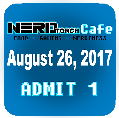 NERD torch Cafe Admit 1 August 26, 2017