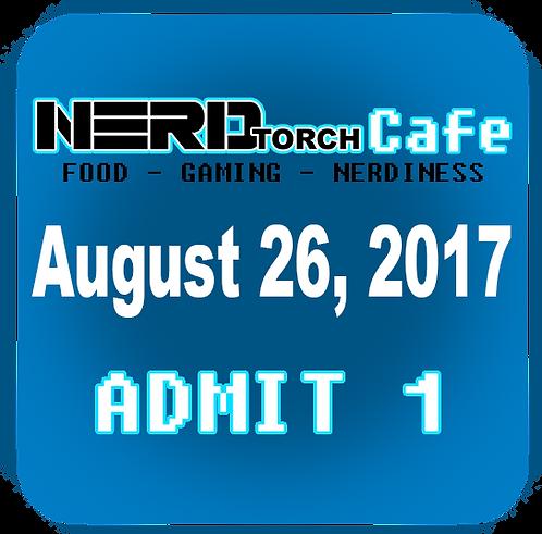 NERD torch Cafe Admit 1 August 26, 2017