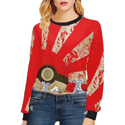 Pokemon Rising Sun Crop Sweatshirt