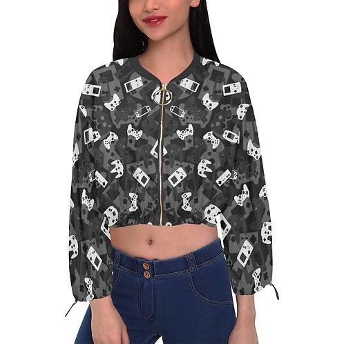 Gamer Camo Cropped Chiffon Jacket