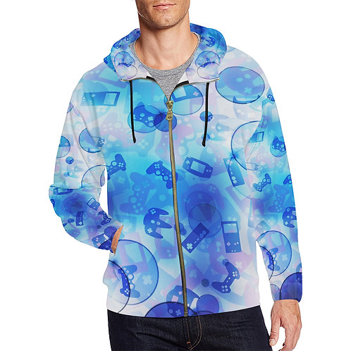 Gamer Bubble Zip Up Hoodie