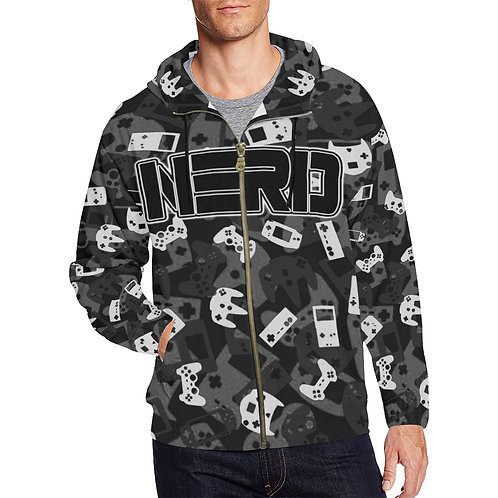 Gamer Camo Zip Up Hoodie