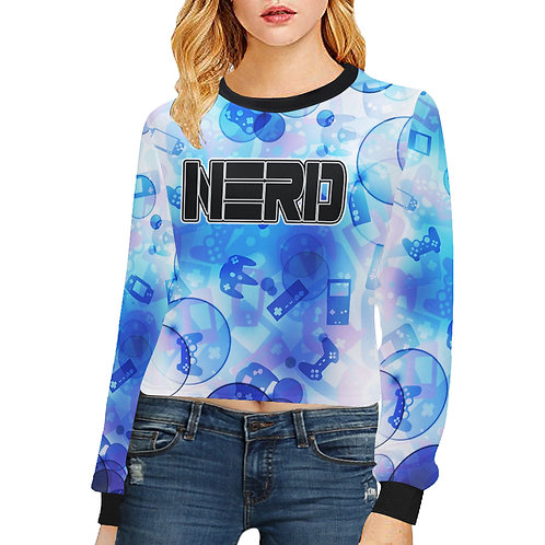 Gamer Bubble Crop Sweatshirt