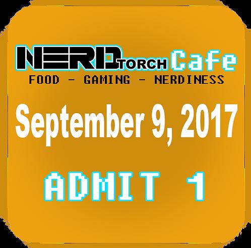 NERD torch Cafe Admit 1 September 9, 2017