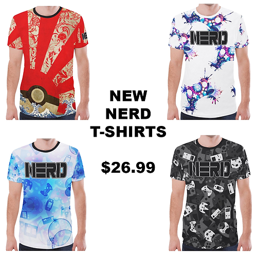 New All-Over Print NERD shirt