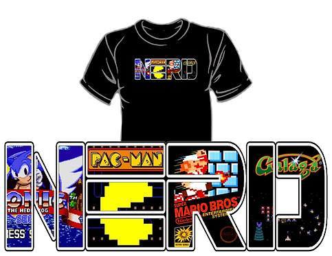 Old School Gaming NERD Shirt (Gen 2)
