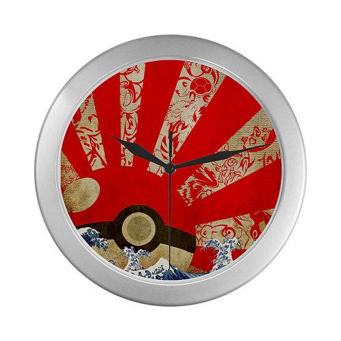 Pokemon Rising Sun Wall Clock