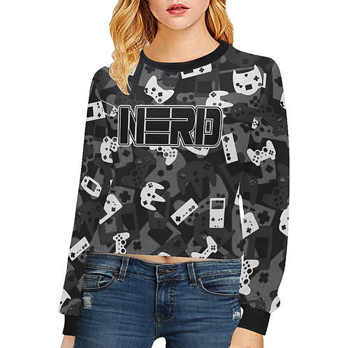 Gamer Camo Crop Sweatshirt