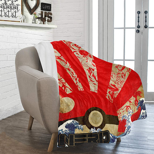 Pokemon Rising Sun Fleece Blanket