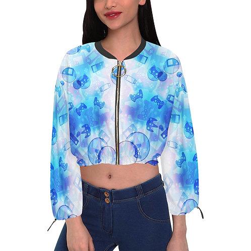 Gamer Bubble Cropped Chiffon Jacket