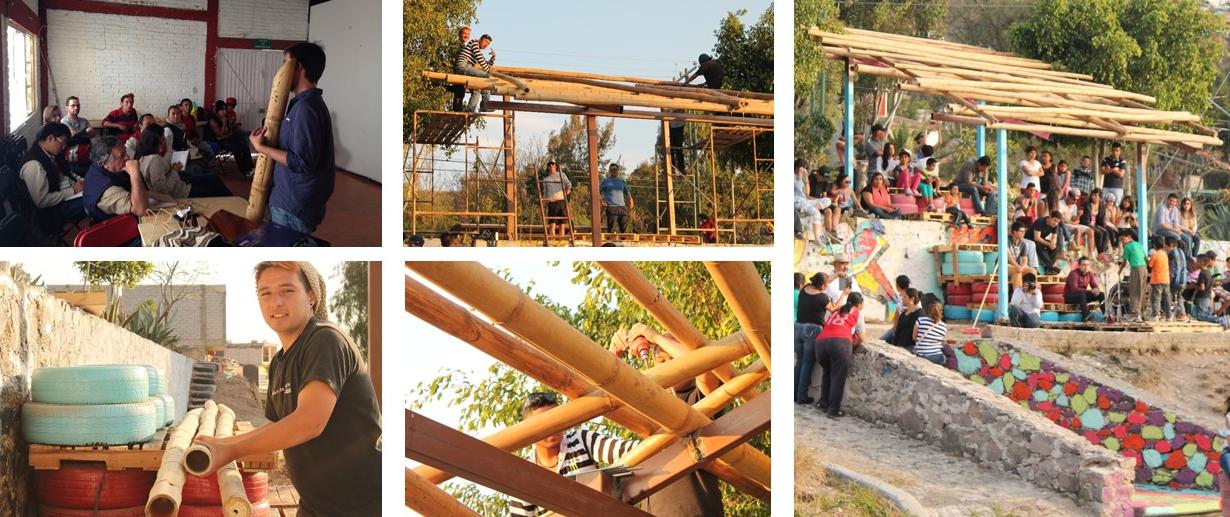 Taller de construcción con bambú