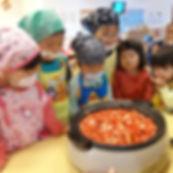 もとの保育園:調理体験