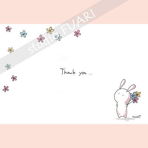 P013 うさぎさん thank you