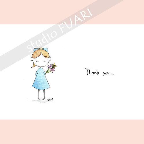 P006  女の子 Thank you