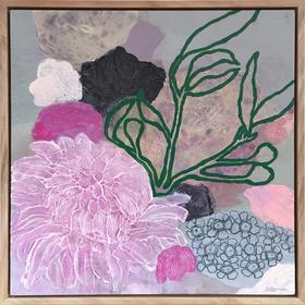 Lilac Bloom & Green Sprig - SOLD