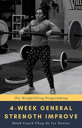 4-Week General Strength Improve Weightli