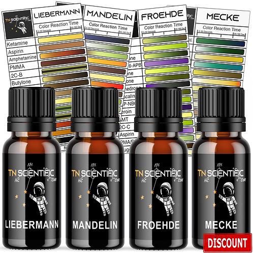 TN Scientific | Mandelin, Mecke, Liebermann, Froehde Reagent Testing Kit ~