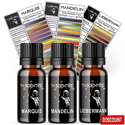 TN Scientific | Marquis, Mandelin, Liebermann Reagent Testing Kit